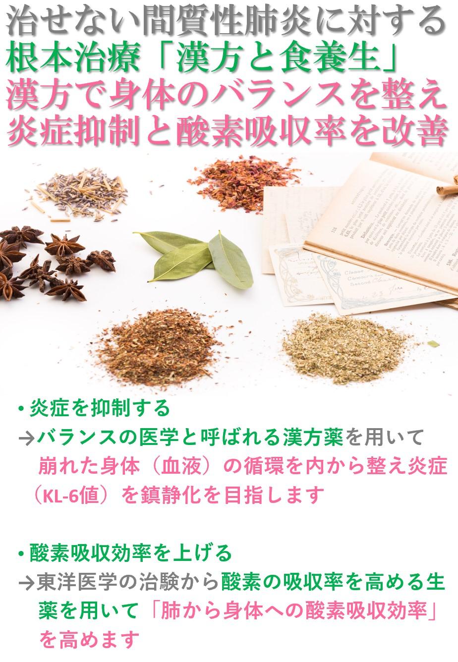 間質性肺炎に対する漢方アプローチ「高山植物に効能で体内の酸素吸収率を高める・崩れた免疫のバランスを整え炎症の進行を鎮静化する」